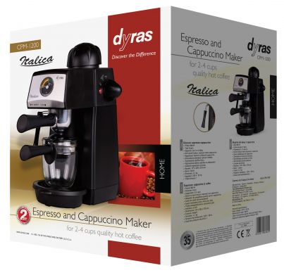Espresso and Cappuccino Maker with Temperature Gauge